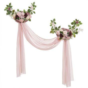 guirnalda con tela boda