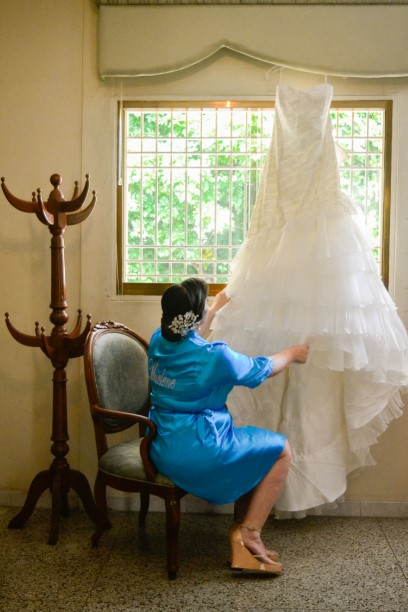 Antesala boda vestido