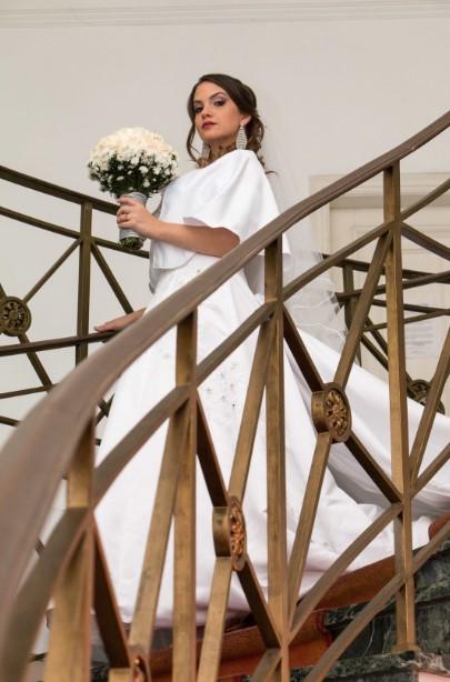 Novia en escalera