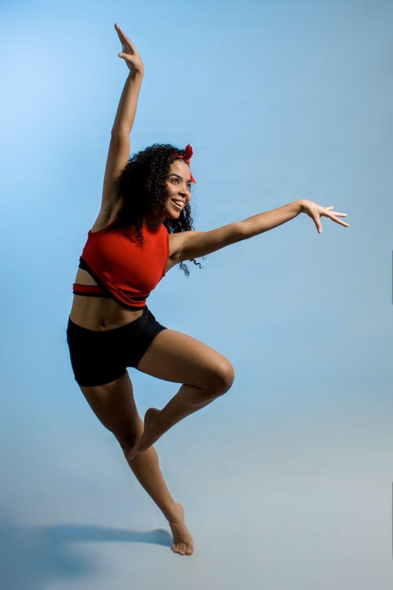Sesión fotográfica bailarina