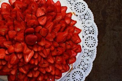 Foto gastronómica pastel