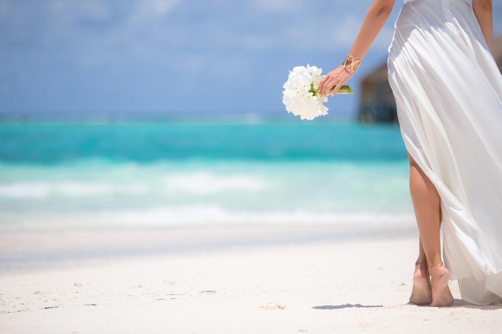 vestido de novia para boda en la playa